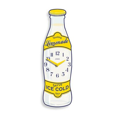 Jones® Clocks Lemonade Bottle Wall Clock