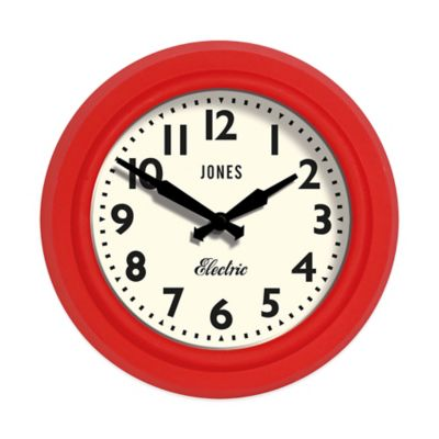 Jones® Clocks Mini Clock in Red Silicone