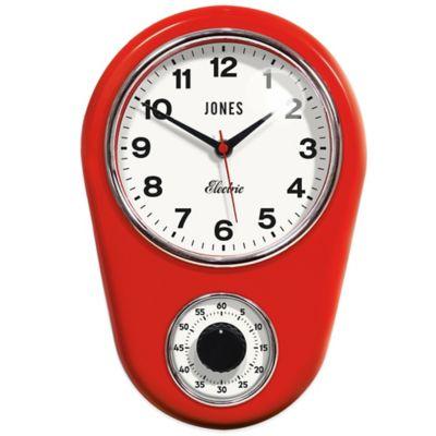 Jones® Clocks Timer Wall Clock in Red