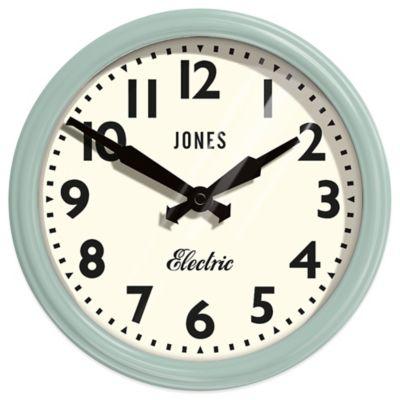Jones® Clocks Apollo Wall Clock in Duck Egg Blue