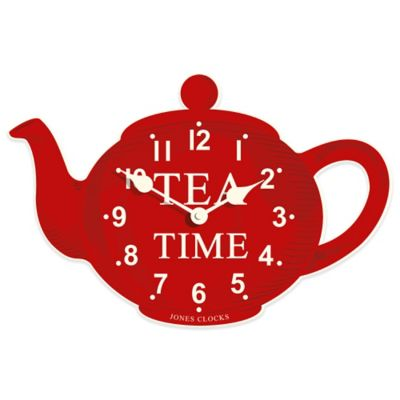 Jones® Clocks Teapot Wall Clock in Red