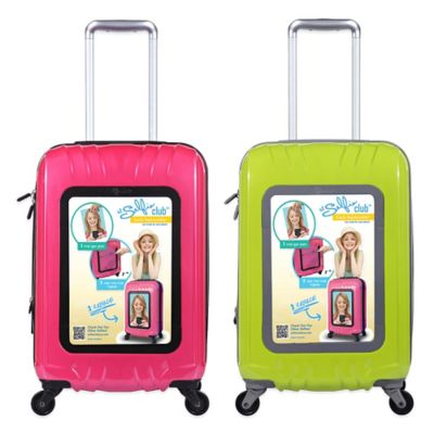 Traveler's Club® Selfie Club™ 20-Inch Personalized Hardside Rolling Carry-On in Lime