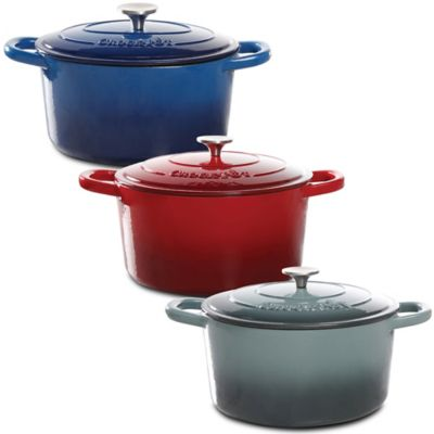 Crock-Pot® 7-Quart Round Cast Iron Dutch Oven in Blue