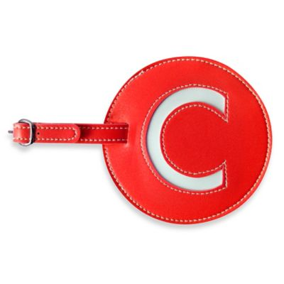 """Initial """"C"""" Luggage Tag in Red"""