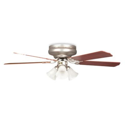 Concord Fans Rosemount Hugger 42-Inch 3-Light Indoor Ceiling Fan in Satin Nickel