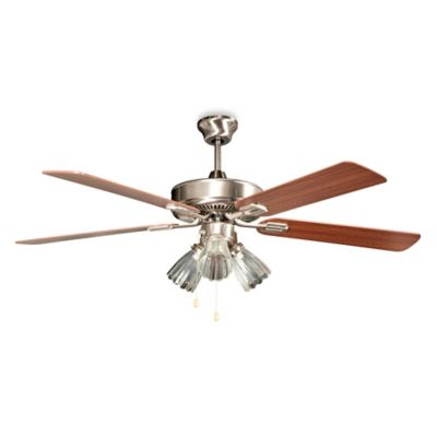 Concord Fans San Marcos 52-Inch 3-Light Indoor Ceiling Fan in Stainless Steel