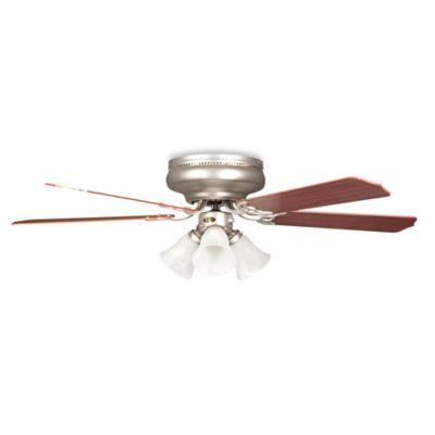 Concord Fans Rosemount Hugger 52-Inch 3-Light Indoor Ceiling Fan in Satin Nickel