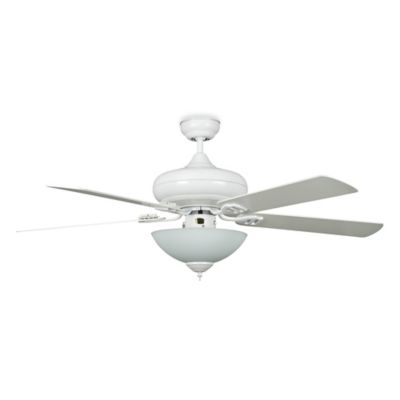 Concord Fans Valore Quick Connect 52-Inch Single-Light Indoor Ceiling Fan in White