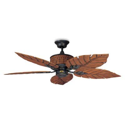 Concord Fans Fernleaf Breeze 52-Inch Indoor/Outdoor Ceiling Fan in Rustic Iron