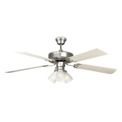 Concord Fans Home Air 52-Inch 3-Light Indoor Ceiling Fan in Satin Nickel