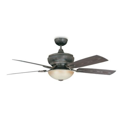 Concord Fans Boardwalk 52-Inch Single-Light Indoor/Outdoor Ceiling Fan in Aged Pecan