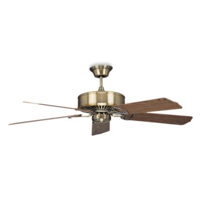 Concord Fans Madison 52-Inch Indoor Ceiling Fan in Antique Brass with Light/Dark Oak Blades
