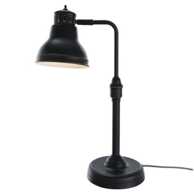 Adesso® Adjustable Table Lamp with Metal Shade in Antique Bronze