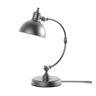 Adesso® Adjustable Curved Table Lamp in Pewter