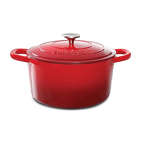 Buy Crock Pot 174 5 Quart Round Cast Iron Dutch Oven In Red