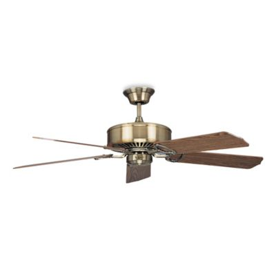 Concord Fans Madison 60-Inch Indoor Ceiling Fan in Antique Brass with Light/Dark Oak Blades