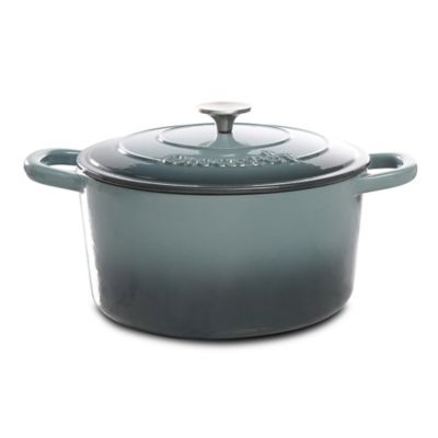 Crock-Pot® 7-Quart Round Cast Iron Dutch Oven in Grey