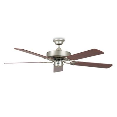 Concord Fans California Home 52-Inch Ceiling Fan in Satin Nickel Rosewood/Silver Oak Blades