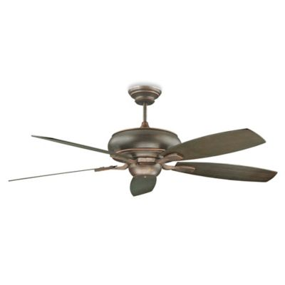Concord Fans Roosevelt 52-Inch Ceiling Fan in Satin Nickel with Silver Oak/Rosewood Blades