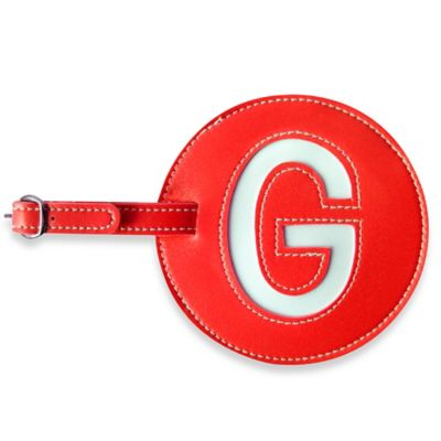 "PB Blankets Initial ""G"" Luggage Tag in Red"