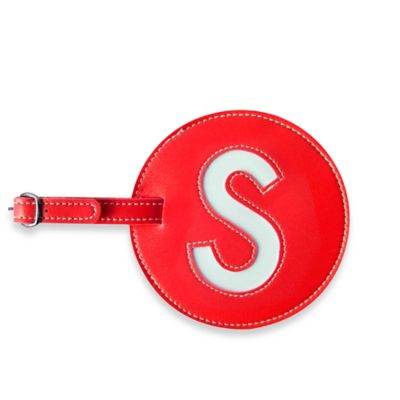 "Initial ""S"" Luggage Tag in Red"