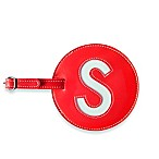 Initial  S  Luggage Tag in Red