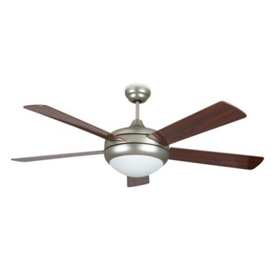Concord Fans Saturn 52-Inch Two-Light Indoor Ceiling Fan in Satin Nickel