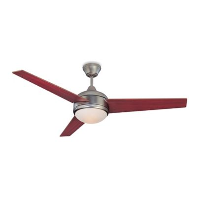 Concord Fans Skylark 52-Inch Indoor Ceiling Fan in Satin Nickel with Rosewood/Dark Walnut Blades