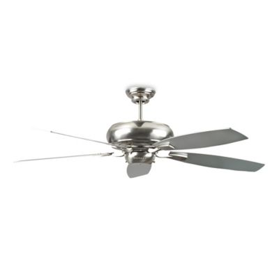 Concord Fans Roosevelt 60-Inch Ceiling Fan in Stainless Steel with Chrome/Rosewood Blades
