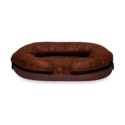 Katherine Elizabeth Large Charlie Bolster Pet Bed in Brown