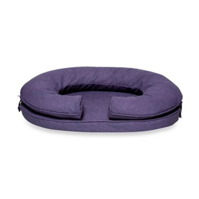 Katherine Elizabeth Small Cody Bolster Pet Bed in Black Current