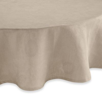 Garnier-Thiebaut Mille Datcha Caillou 69-Inch Round Linen Tablecloth