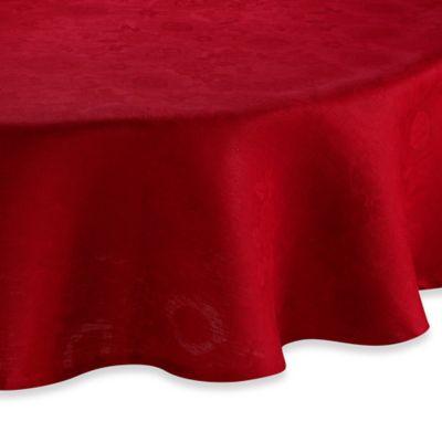 Garnier-Thiebaut Mille Datcha Framboise 69-Inch Round Linen Tablecloth