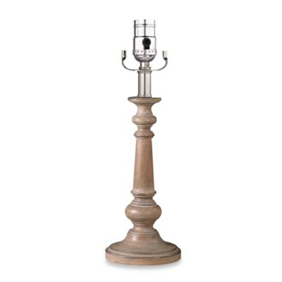 Mix & Match Small Candlestick Lamp Base in Light Wood with CFL Bulb