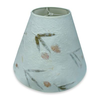 Mix & Match Medium 15-Inch Crinkled Paper Pressed Flower Lamp Shade in Natural