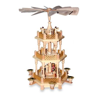 Richard Glaesser 3-Tier Nativity Scene Pyramid