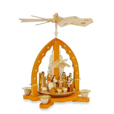 Richard Glaesser Nativity Scene Pyramid in Natural