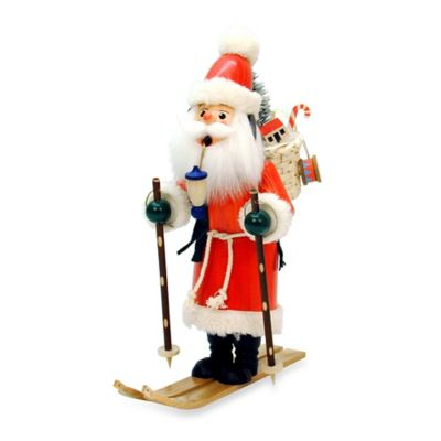 Christian Ulbricht Santa on Skis Incense Burner
