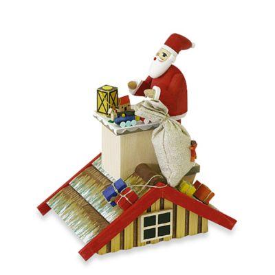 Richard Glaesser Santa on Roof Incense Burner
