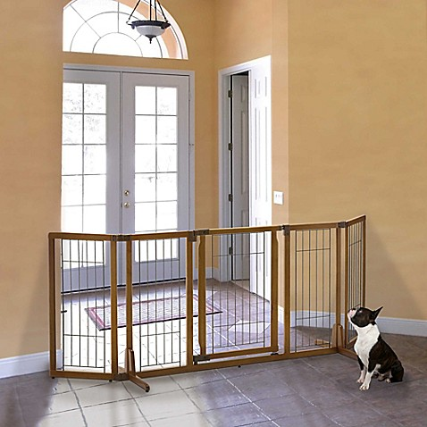 Buy Richell Premium Plus Wide Freestanding Pet Gate With