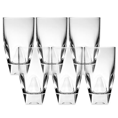 Lorren Home Trends Diamonte Highball Glass (Set of 6)