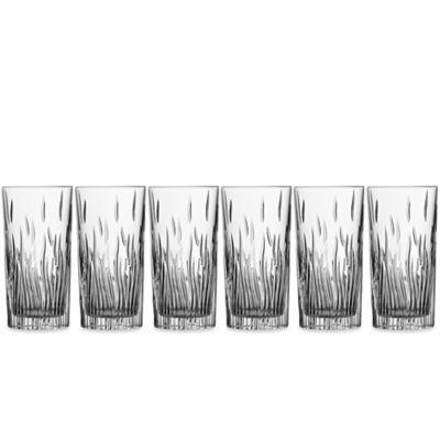 Lorren Home Trends Fire Highball Glass (Set of 6)