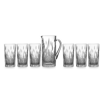 Lorren Home Trends Fire 7-Piece Iced Tea Set