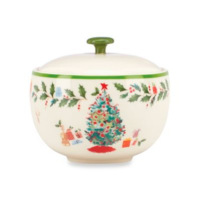 Lenox® Holiday Illustrations 4.5-Inch Sugar Bowl