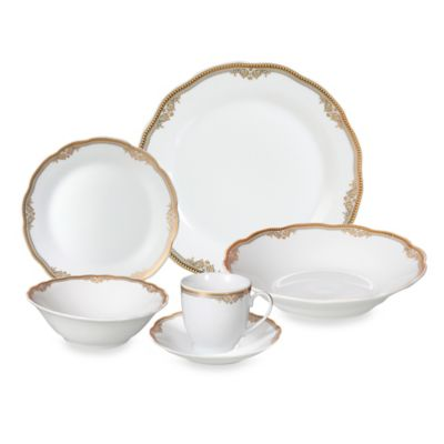 Gold Porcelain Dinnerware Sets