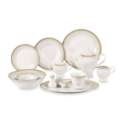 Lorren Home Trends Aria 57-Piece Dinnerware Set