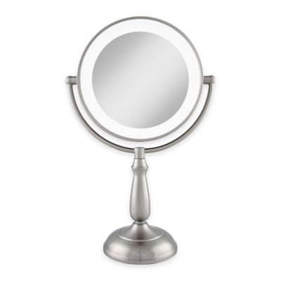 Zadro® 1x/10x Dimmable Touch LED Lighted Makeup Mirror with Magnification