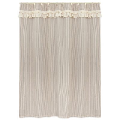 Downton Abbey® Village Collection Shower Curtain in Cream/Iron
