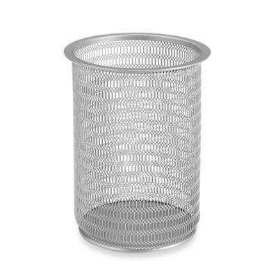 Mesh Desk Jumbo Pencil Cup in Silver