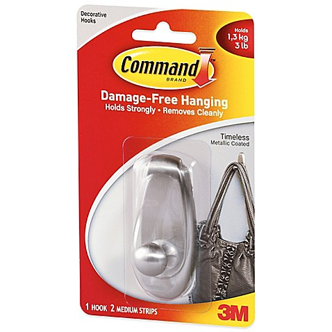 3m command timeless medium wall hook from 3m comes the command